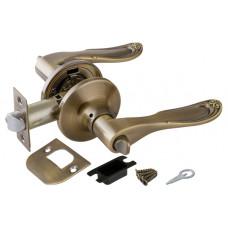 Ручка дверная 6030 МАВ В (фик.) мат.бронза PUNTO (112091)