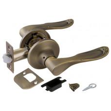 Ручка дверная 6030 МАВ Р (без фик.) мат.бронза PUNTO (112093)