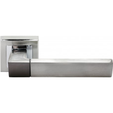 Ручка дверная Rucetti RAP 16-S SN/CP  бел.никель/пол.хром (100716)
