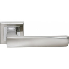 Ручка дверная Rucetti RAP 14-S SN/CP  бел.никель/пол.хром (100715)