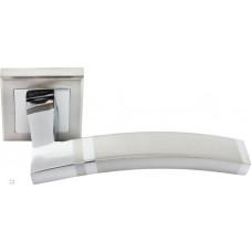 Ручка дверная Rucetti RAP 13-S SN/CP бел.никель/пол.хром (100714)
