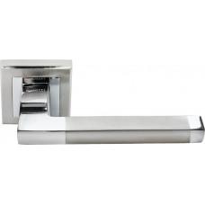 Ручка дверная Rucetti RAP 17-S SN/CP  бел.никель/пол.хром (100717)
