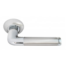 Ручка дверная Rucetti RAP 2 SN/CP бел.никель/пол.хром (100703)