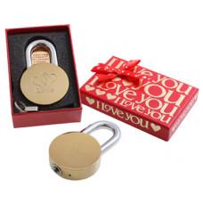 Замок навесной Аллюр LOVE в подарочной упак.(214301)